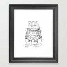 I hate humans. Framed Art Print