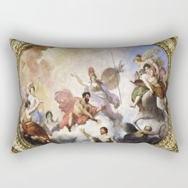 Fresco on Ceiling in Paris Rectangular Pillow