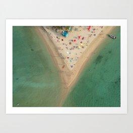 Aerial Koh Phangan Beach Thailnad Art Print