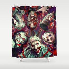 Twisty Jigsaw Jason Voorhees Terminator Psychedelic Spook Show Shower Curtain