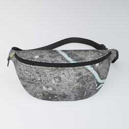 Warsaw, Poland street map Fanny Pack