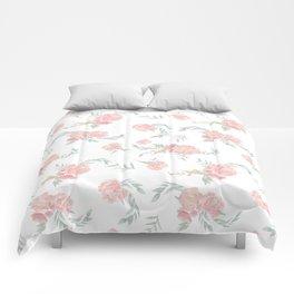 watercolor peonies Comforters
