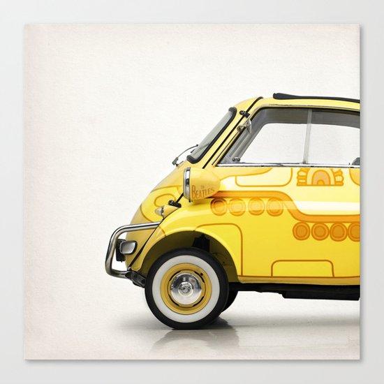 Yellow Submaretta Canvas Print