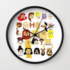 Princess Alphabet Wall Clock