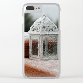 White Lantern Clear iPhone Case