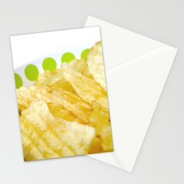 Potato Chips in Bowl Photography Stationery Cards