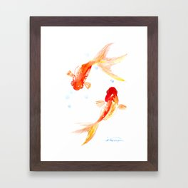 Goldfish, Two Koi Fish Framed Art Print