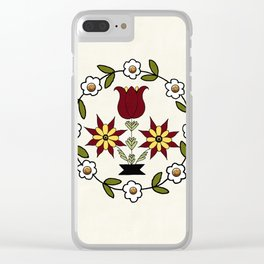 Dutch Country Floral Clear iPhone Case