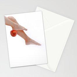 Orange glow feet Stationery Cards