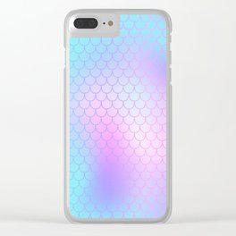 Turquoise Pink Mermaid Tail Abstraction Clear iPhone Case