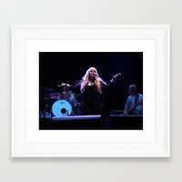 stevie nicks Framed Art Prints featuring Stevie Nicks by Molly Johnson