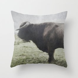 Raging Bull Throw Pillow