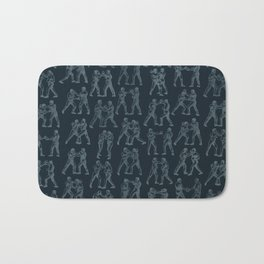Round One STEEL BLUE / Vintage boxers Bath Mat