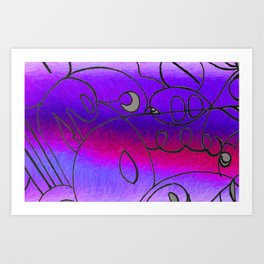Curves at Dusk Art Print