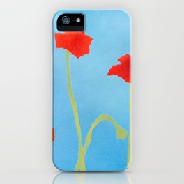 Poppies wide iPhone Case