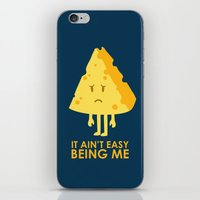 sayings iPhone & iPod Skins featuring It ain't easy being cheesy by Picomodi