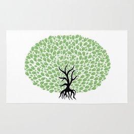 Green Tree Burst Rug