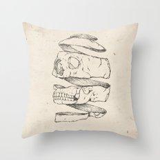 Twister Skull Throw Pillow