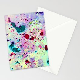 Paint Splatters Stationery Cards