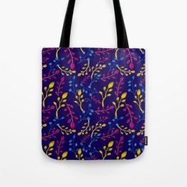 Cute and Colourful Leaf Print Tote Bag