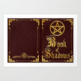 Red Book of Shadows Art Print