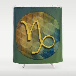 CAPRICORN Flower of Lie Astrology Design Shower Curtain