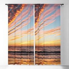 Sunset on the beach. Blackout Curtain