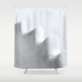White and Minimal Shower Curtain