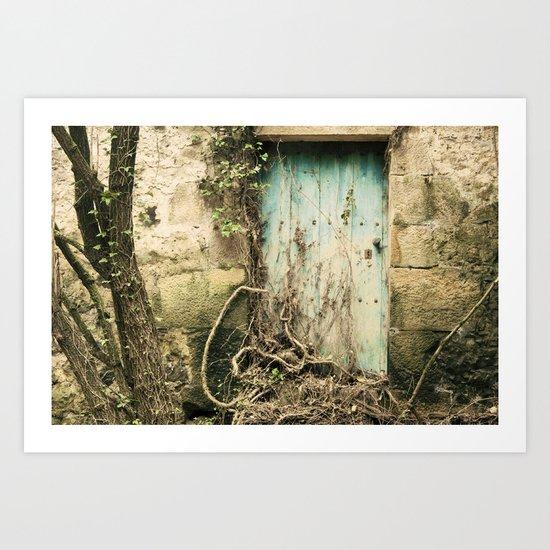 Puerta azul  Art Print