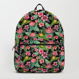 Tropical Palm Lovebird Floral Backpack