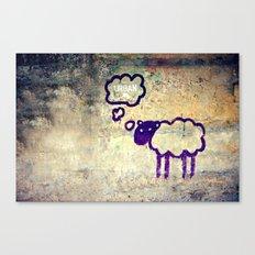 Urban Sheep Canvas Print