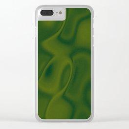 Moss Green Silk Clear iPhone Case