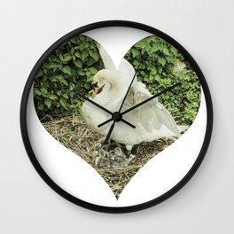 Mother Swan V Wall Clock