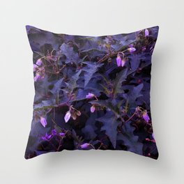 Purple Nettles Throw Pillow