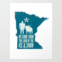 Minnesota: Ice & Snow Art Print