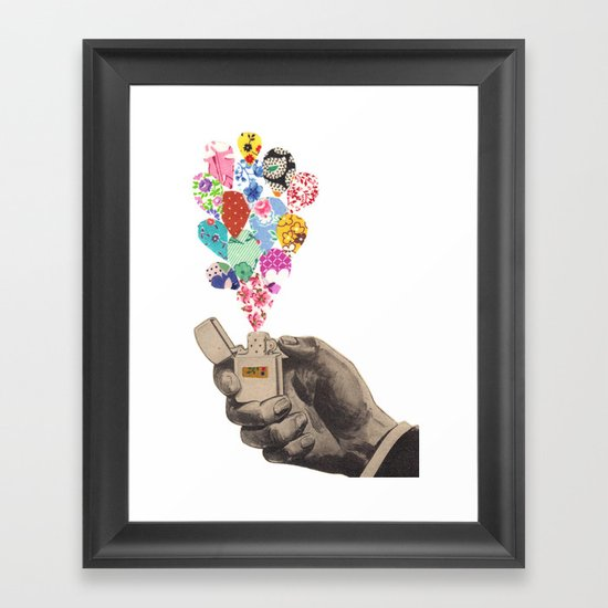 The Flame Framed Art Print