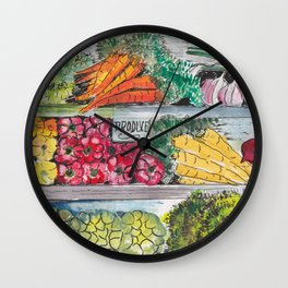 Eat your vegetables! Wall Clock
