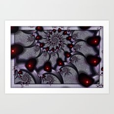 Goth Hearts and Spikes Art Print