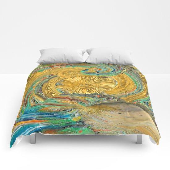 Solar tower Comforters