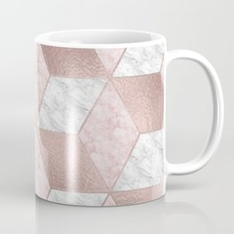 Dazzling marble geo - rose gold Coffee Mug