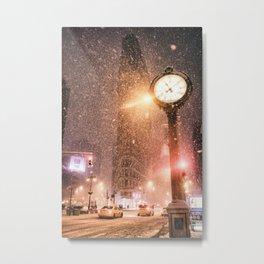 New York City Snow Metal Print