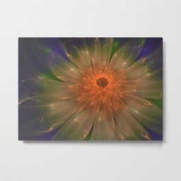 Abstract Flame Flower Metal Print