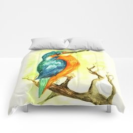 King Fisher Bird Comforters