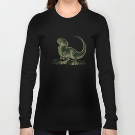 """""""Baby T-Rex"""" by Amber Marine ~ watercolor and ink, (Copyright 2013) Long Sleeve T-shirt"""
