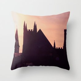 Steeples in Shadows Throw Pillow