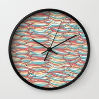 candy Wall Clocks featuring Candy by Pom Graphic Design