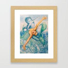 Zodiac Signs Pisces Drawing Framed Art Print
