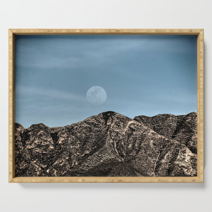 Moon over the Franklin Mountains Serving Tray