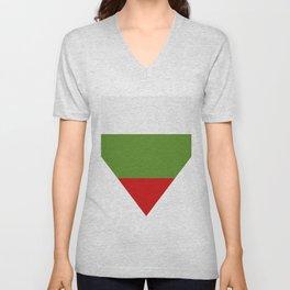 Bulgarian flag Unisex V-Neck