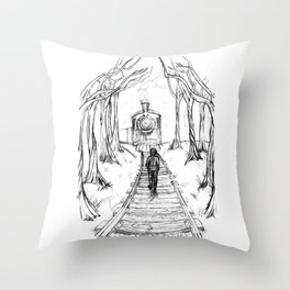 Old Railroad Throw Pillow